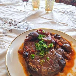 Osso buco meat dish
