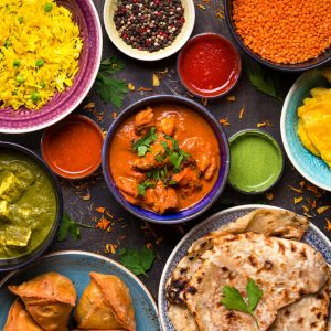 Order a vegetarian Indian meal